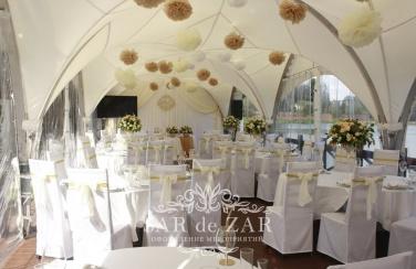 Свадебный шатёр в стиле айвори