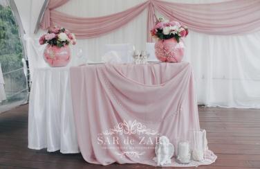 Оформление свадебного шатра элементами декора